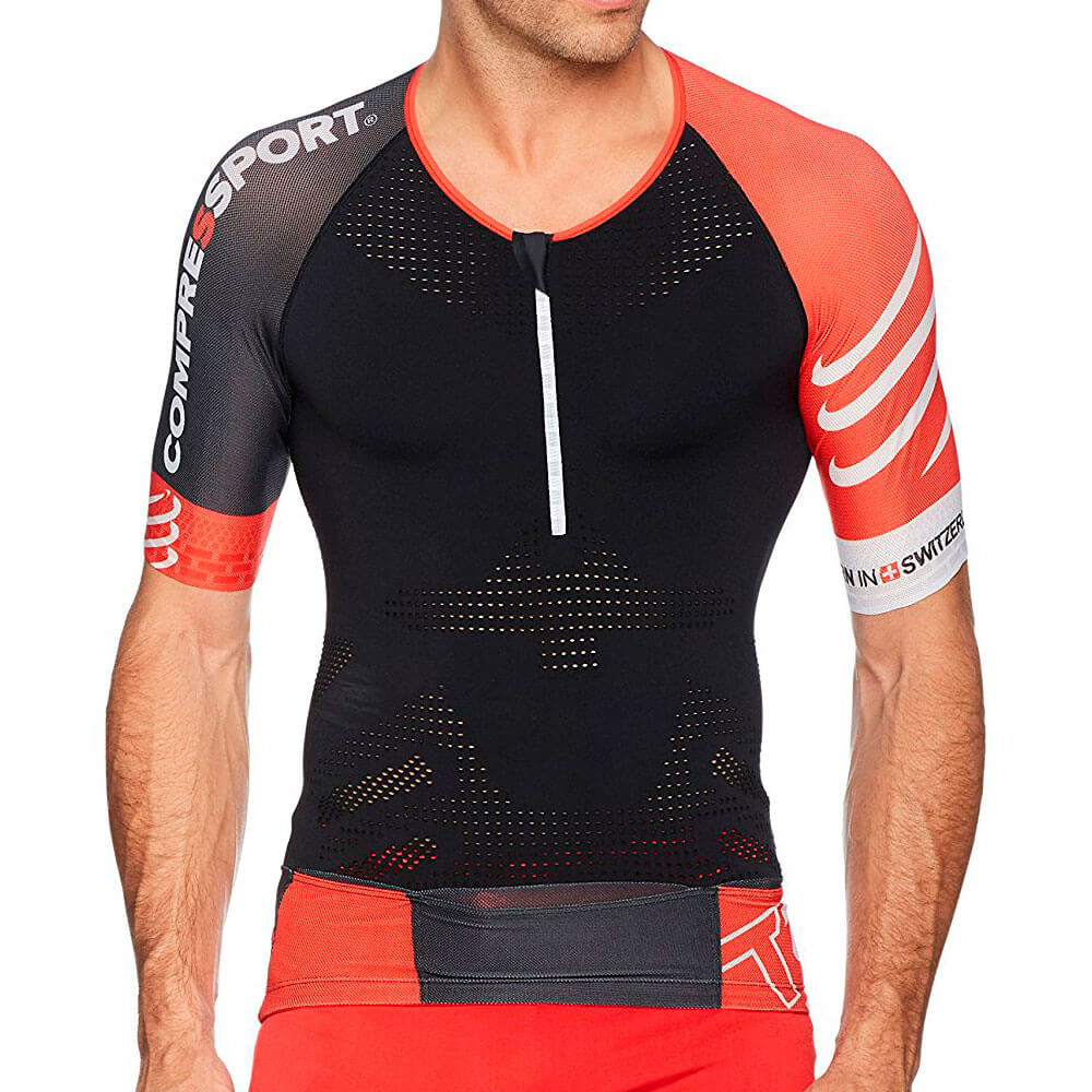 Camisa de Compressão Triathlon TR3 Aero TOP - COMPRESSPORT -Preta ... 34b2dc231606b