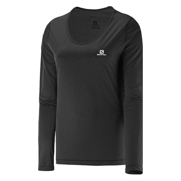 Camiseta-Salomon-Comet-Ls-Feminina-Preta