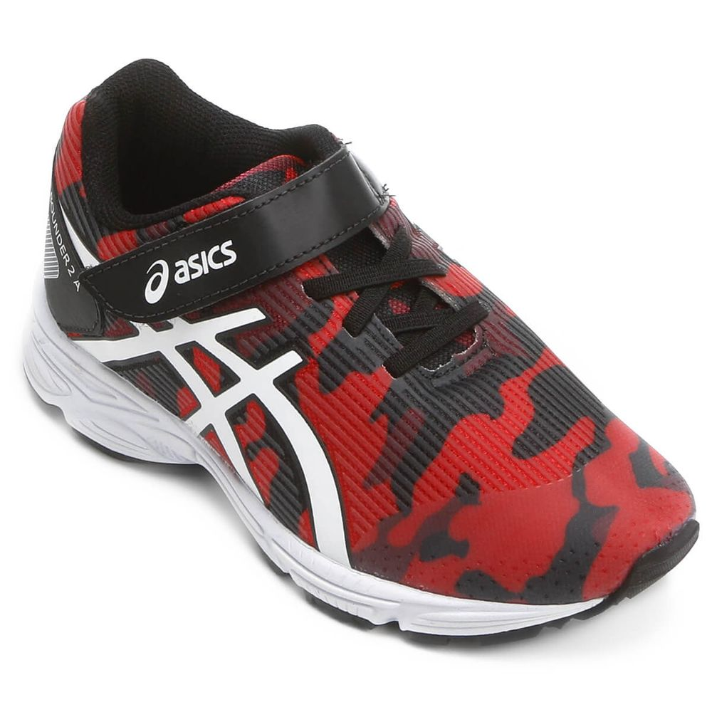 5ccb06c052e Tênis Infantil Asics Pre Bounder 2 PS Preto   Vermelho - Keep Running Brasil  - Keep Running