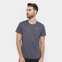 Camiseta-de-Corrida-Masculina-Asics-cinza