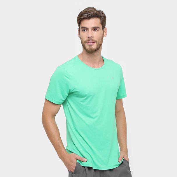 Camiseta-de-Corrida-Masculina-Asics-verde