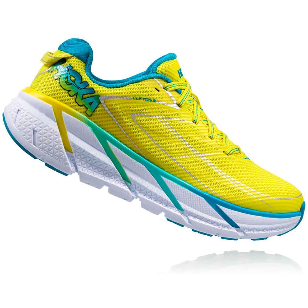 Tênis HOKA ONE ONE Clifton 3 Feminino - Verde Limão - Keep Running Brasil -  Keep Running e0f36383e0111
