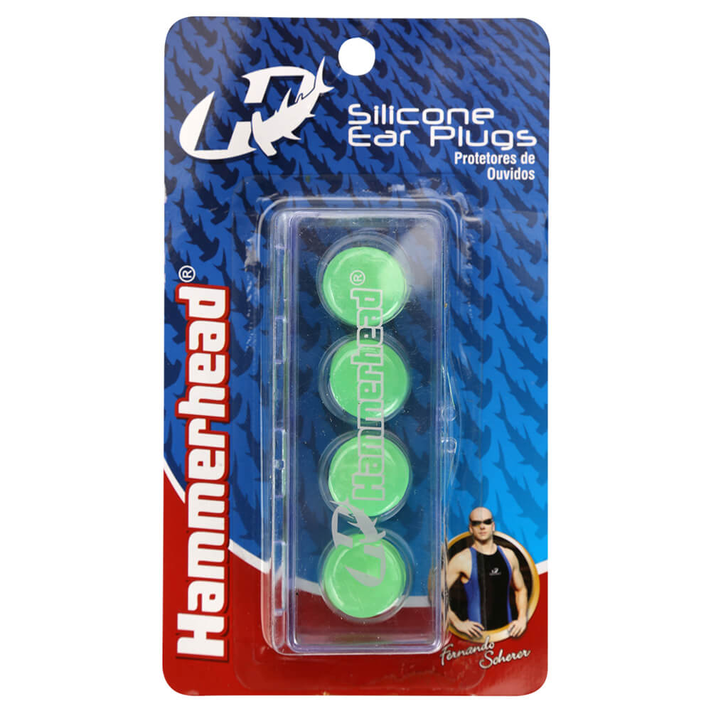 e71ba42ef Protetor de Ouvido de Silicone Hammerhead - 4 peças - Verde - Keep Running  Brasil - Keep Running