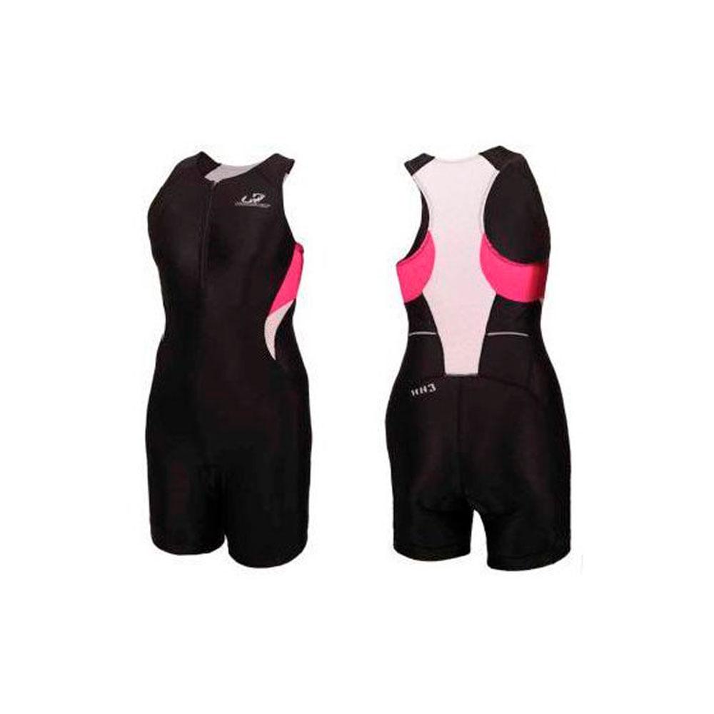 3a48bdd698 Macaquinho Triathlon HH3 Feminino Long Distance Preto Rosa Branco - Keep  Running Brasil - Keep Running