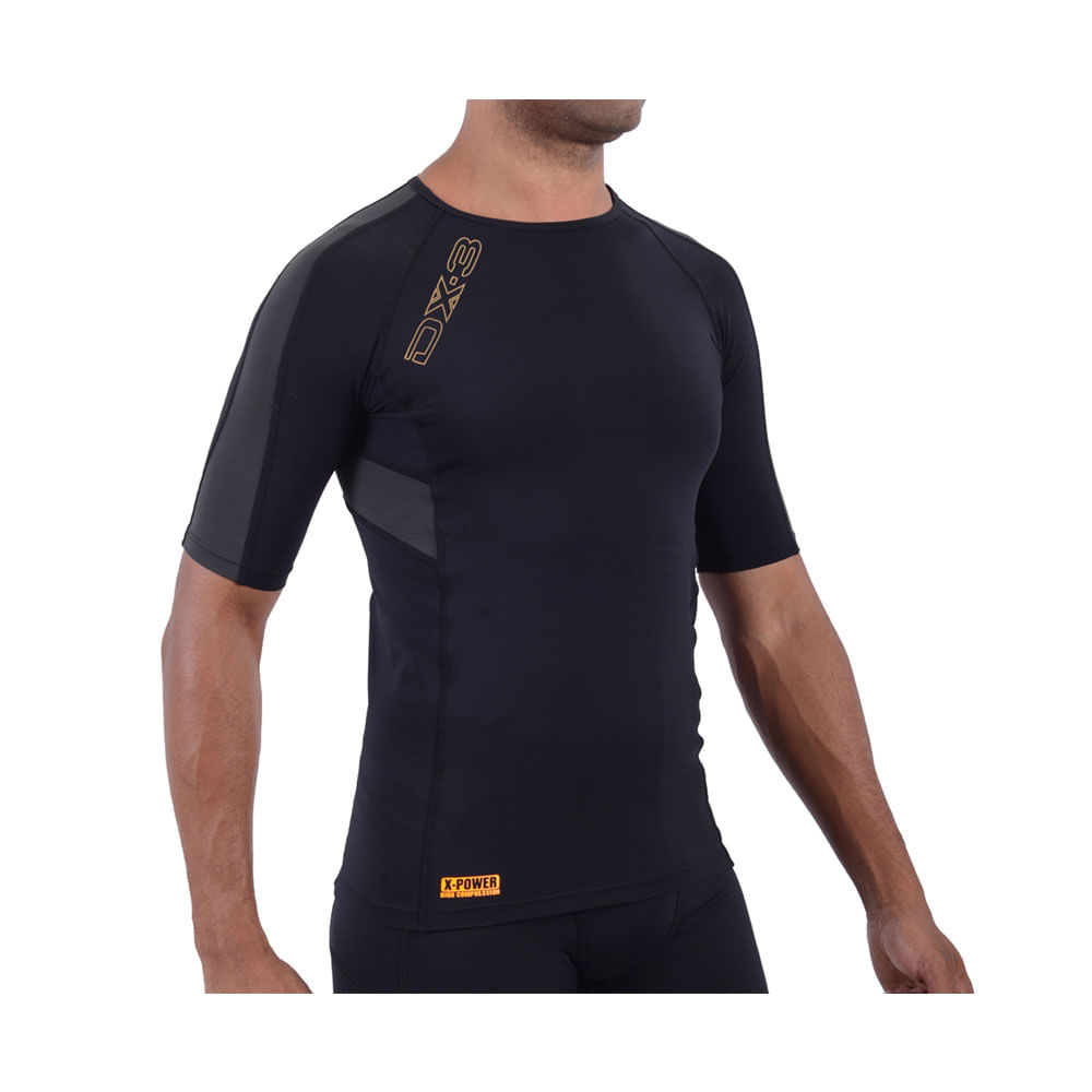 68a098bed7 Camisa de Compressão DX3 X-POWER Manga Curta- Masculina - Keep Running  Brasil - Keep Running