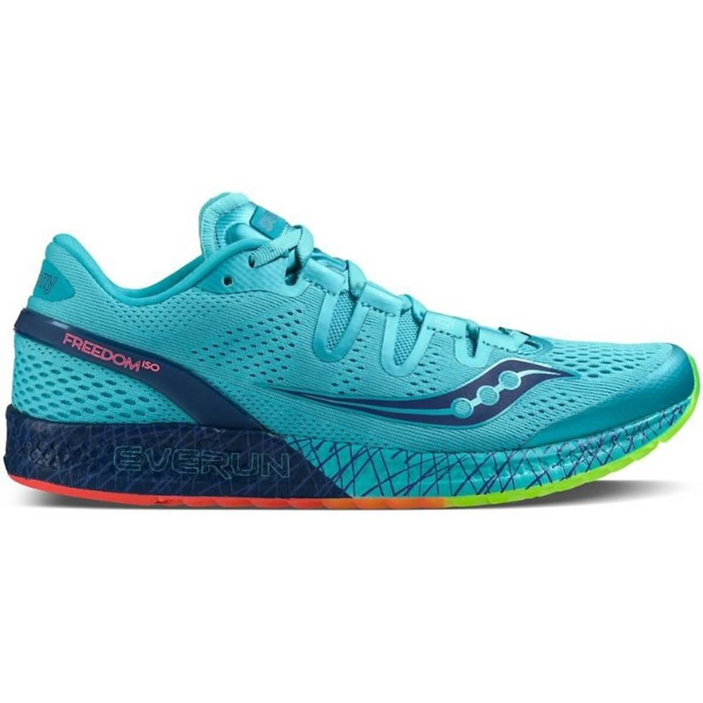 Tênis Saucony Freedom Iso Feminino - Azul Citrus- Keep Running Brasil - Keep  Running 29218415f10