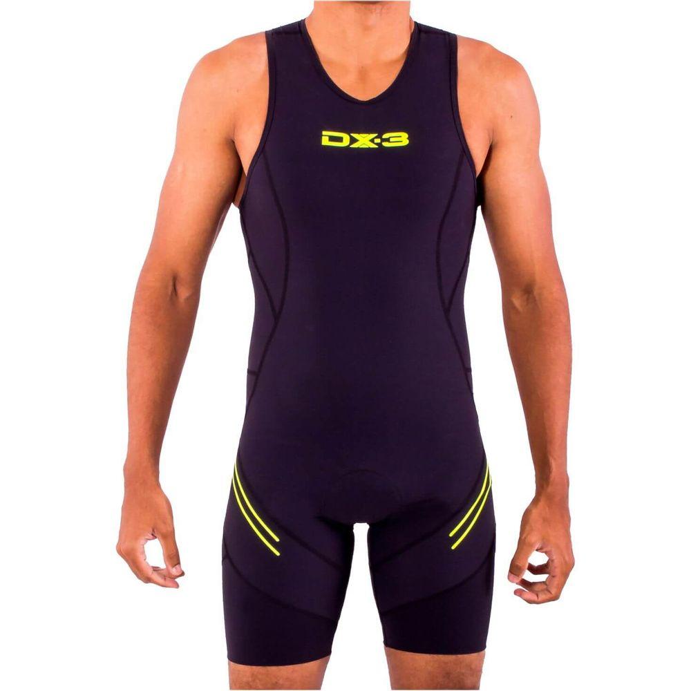 Macaquinho de compressão Triathlon IRONMAN DX3 - Masculino - Preto ... 49851492646c0