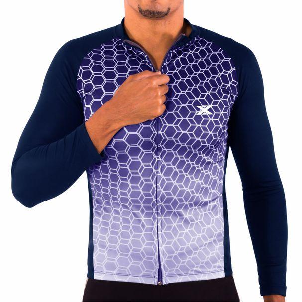 Camisa de Ciclismo Montop Manga Longa DX3 - Masculina - Marinho - Keep  Running Brasil - Keep Running c24e7435ac0