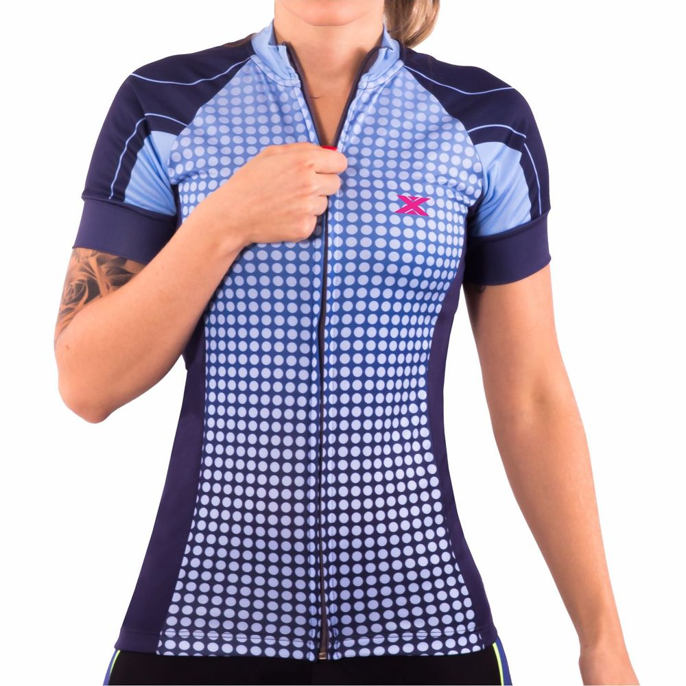 Camisa de Ciclismo Montop DX3 - Feminina - Marinho - Keep Running Brasil -  Keep Running 2dc05ba7942