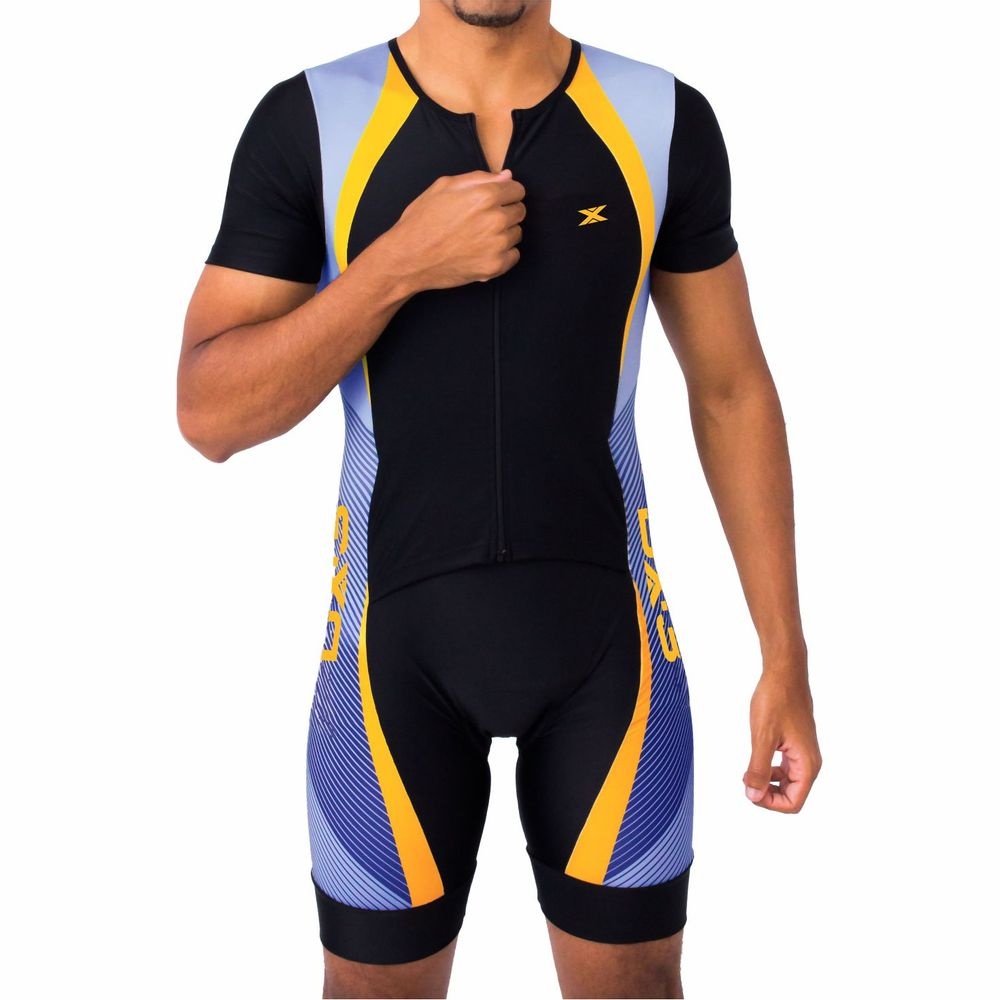 Macaquinho de Ciclismo Performance Montop DX3 Masculino - Preto   Azul - Keep  Running Brasil - Keep Running a4e586359245f