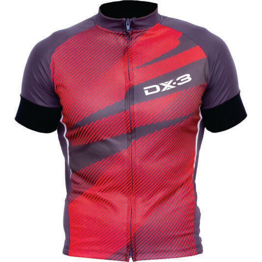 797ae9662 Camisa de Ciclismo Montop DX3 - Masculina - Cinza   Vermelho - Keep Running  Brasil - Keep Running