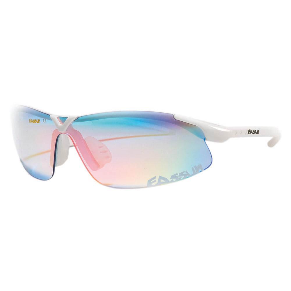 8f541667e56a0 Óculos de Sol Eassun X-Light - Branco com Lente Azul Claro - Keep Running  Brasil - Keep Running