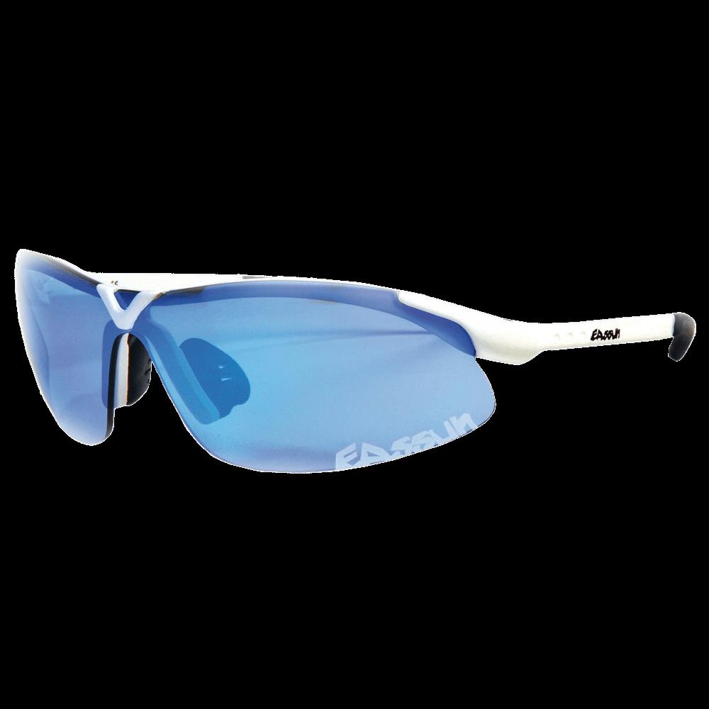 7df4d99fb51fa Óculos de Sol Eassun X-Light - Branco Brilhante com Lente Azul - Keep  Running Brasil - Keep Running
