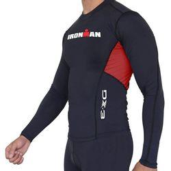 Camisa Manga Longa de Ultra Compressão DX3 X-Pro IRONMAN - Masculino -  Preto   Vermelho db50462caea71