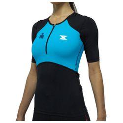 Camisa Bike de Compressão DX3 X-Pro IRONMAN - Feminino- Preto / Azul