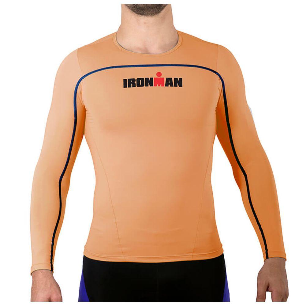 e967900b04860 Camisa de Alta Compressão Ed. Especial IronMan Manga Longa Masculina -  Laranja - Keep Running Brasil - Keep Running