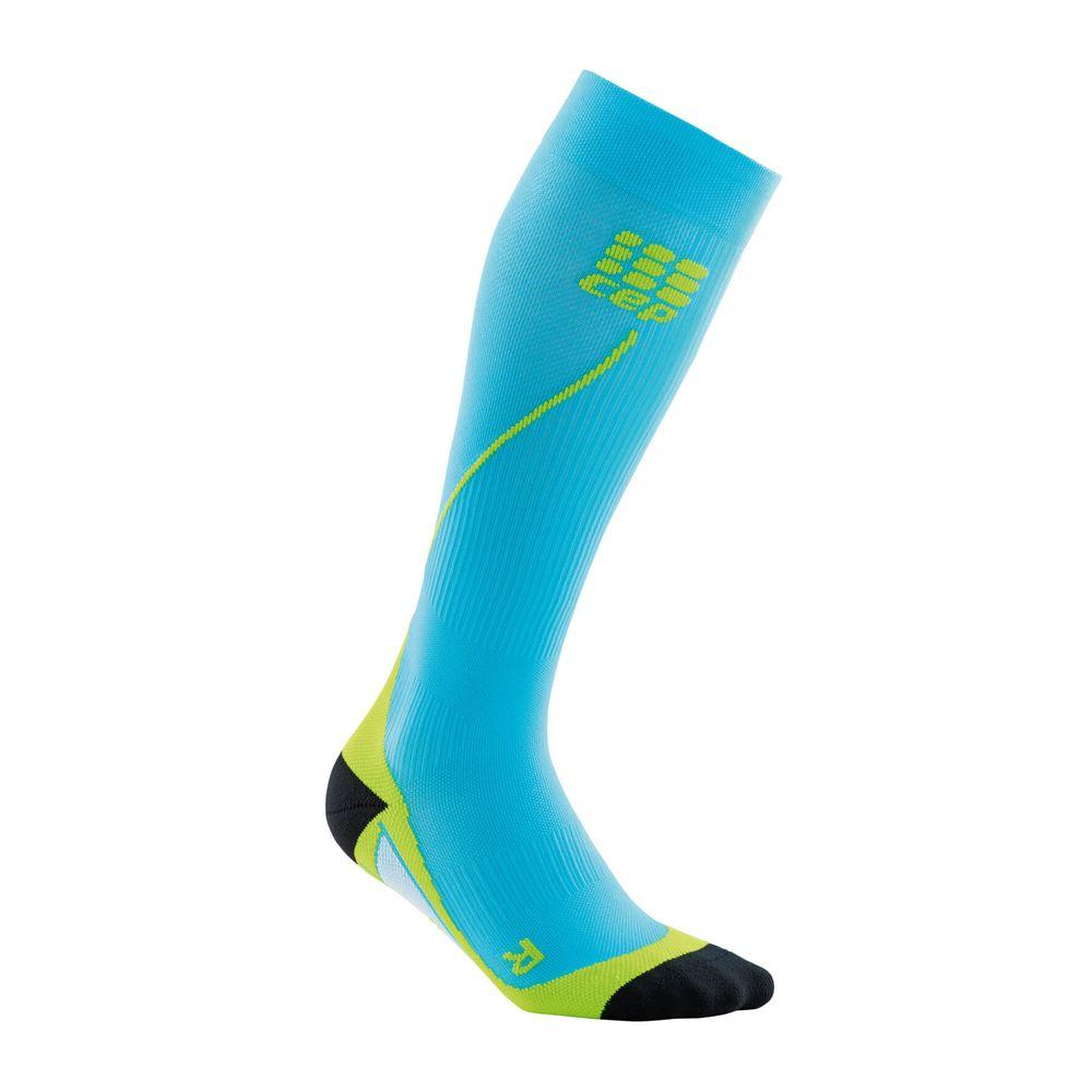 68cac935e Meia de Compressão CEP Run Socks 2.0 Masculina - Limão   Azul - Keep Running  Brasil Copy - Keep Running