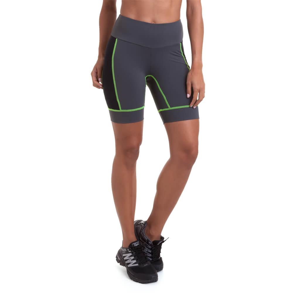 15b9c09097 Bermuda Authen Grit III - Cinza   Amarelo Carambola - Keep Running Brasil -  Keep Running