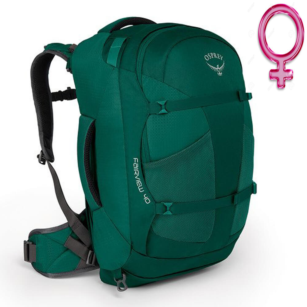70dd4be8c Mochila Feminina Osprey FAIRVIEW 40 Verde - Keep Running Brasil - Keep  Running