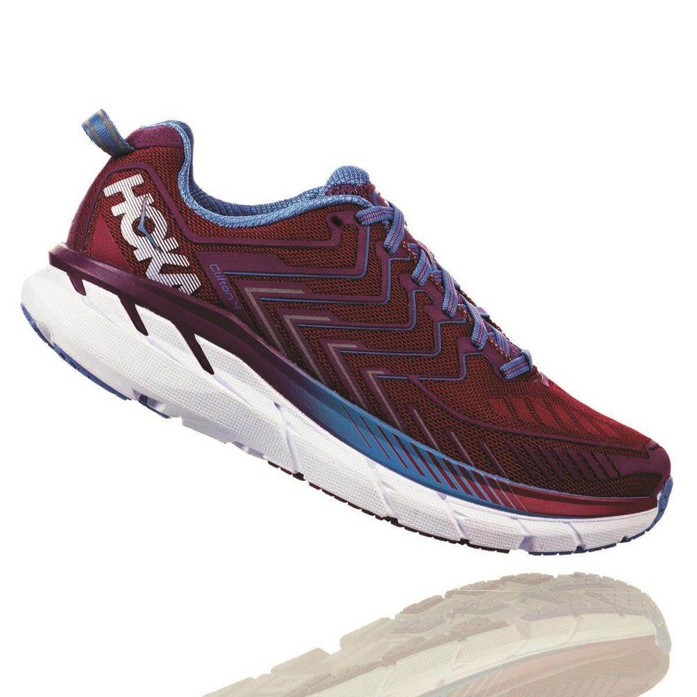 5379602bb38 Tênis HOKA ONE ONE Clifton 4 Feminino - Vermelho   Azul - Keep Running  Brasil - Keep Running